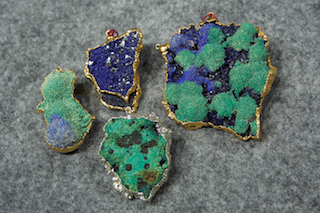 Azurite Malachite electro formed