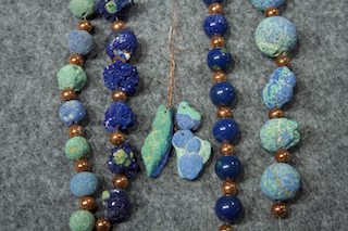 Azurite/ Malachite drilled material